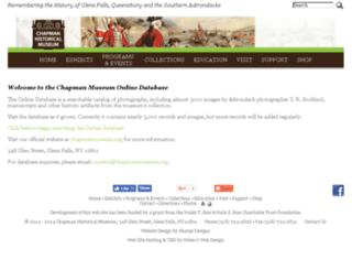 chapmanmuseum.pastperfect-online.com screenshot