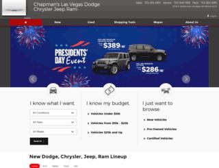 chapmanslasvegasdodge.com screenshot
