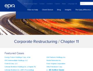 chapter11.epiqsystems.com screenshot