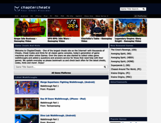 chaptercheats.com screenshot