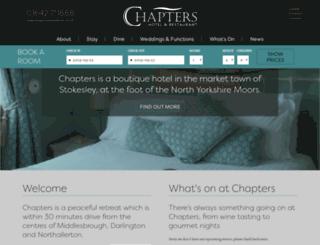 chaptershotel.co.uk screenshot
