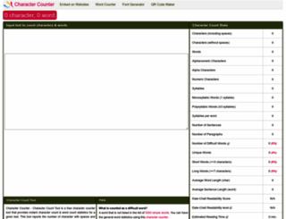 charactercounttool.com screenshot