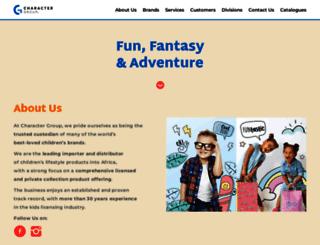 charactergroup.co.za screenshot