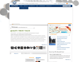 charcoalbriquettepress.com screenshot