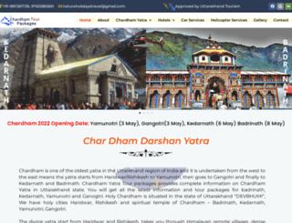 chardhamtourpackages.com screenshot