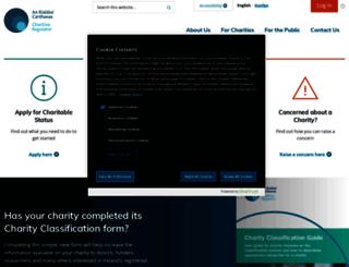 charitiesregulatoryauthority.ie screenshot