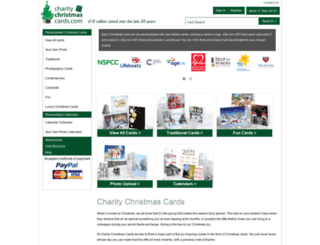 charitychristmascards.com screenshot