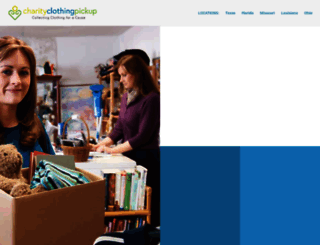 charityclothingpickup.com screenshot