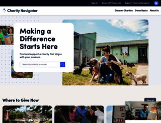 charitynavigator.org screenshot
