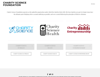 charityscience.com screenshot