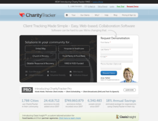 charitytracker.com screenshot