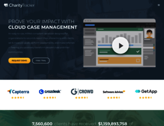 charitytracker.net screenshot
