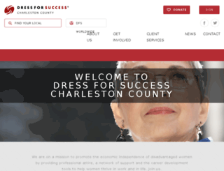 charlestoncounty.dressforsuccess.org screenshot