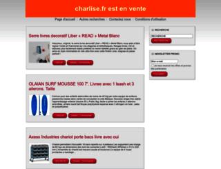 charlise.fr screenshot