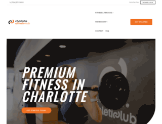 charlotteathleticclub.com screenshot