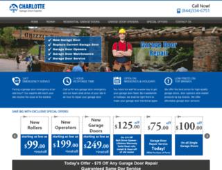 charlottegaragedoorexperts.com screenshot