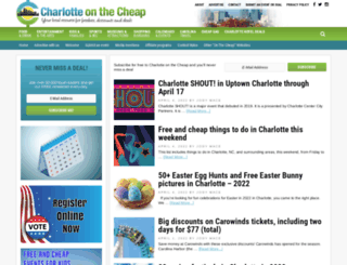 charlotteonthecheap.com screenshot