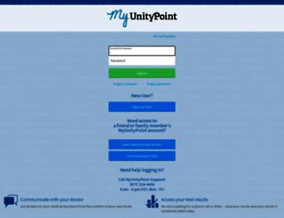 chart.myunitypoint.org screenshot