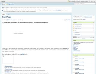 charte-usages.pbwiki.com screenshot