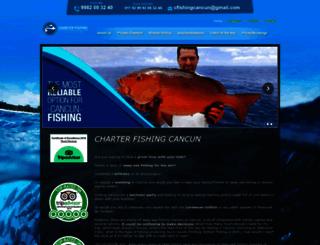 charterfishingcancun.com screenshot