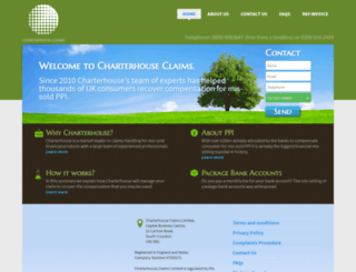 charterhouseclaims.co.uk screenshot