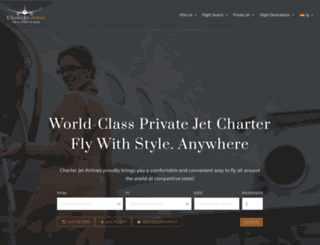 charterjetairlines.com screenshot