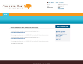 charteroak.mortgagewebcenter.com screenshot