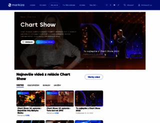 chartshow.markiza.sk screenshot