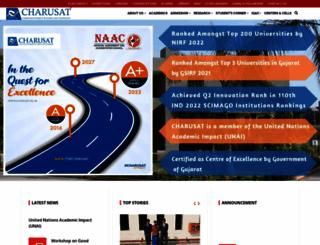 charusat.ac.in screenshot