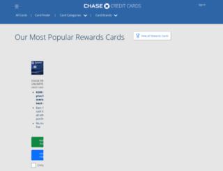 chasecreditcards.com screenshot