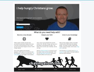 chasingalion.com screenshot