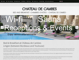 chateau-de-cambes.com screenshot