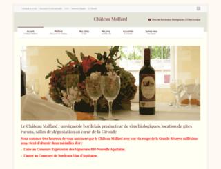 chateau-malfard.com screenshot