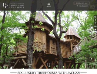 chateaux-dans-les-arbres.com screenshot