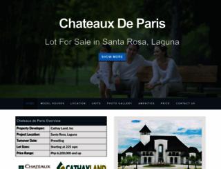 chateauxdeparissouthforbes.com screenshot