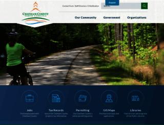 chathamnc.org screenshot