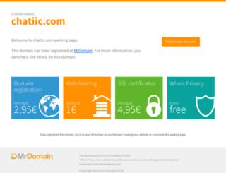 chatiic.com screenshot