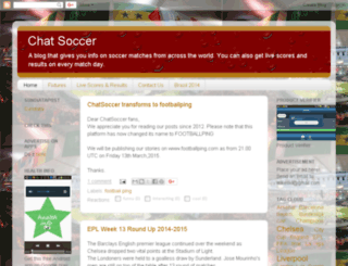 chatsoccer.blogspot.com screenshot