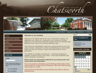 chatsworthga.gov screenshot