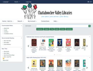chattahoochee.polarislibrary.com screenshot