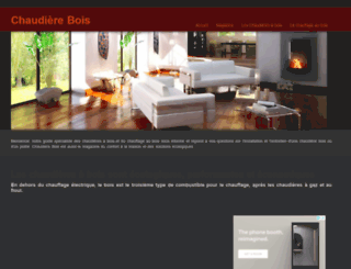 chaudierebois.com screenshot