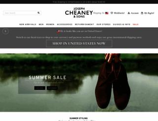 cheaney.co.uk screenshot
