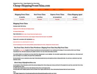 cheap-shippingfromchina.com screenshot