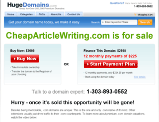 cheaparticlewriting.com screenshot
