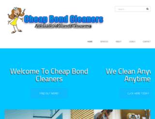 cheapbondcleaners.com.au screenshot