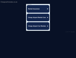 cheapcarhirerates.co.za screenshot