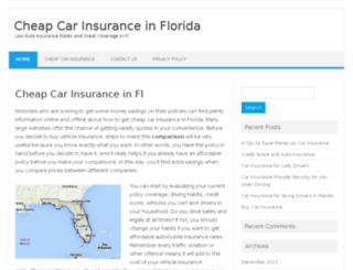 cheapcarinsurancesinfl.com screenshot