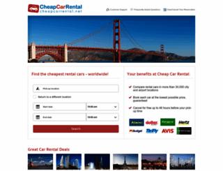 cheapcarrental.net screenshot