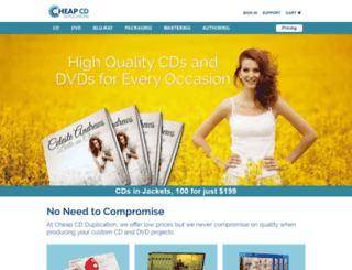 cheapcdduplications.com screenshot