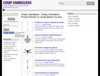 cheapchandeliersinfo.com screenshot